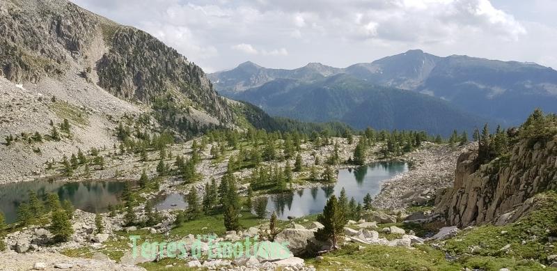 Lacs valscura, Lacs de Terres rouges, Lac de Tavel, Terres d'émotions, Randonnée 06